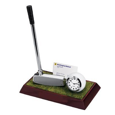 Elegant-Golf-Desktop-Set-With-Business-Cards-Holder-Golf-Club-Pen-Holder-with-Pen-Golf-Ball-Clock-on-the-Green-A-Golfer-Enthusiasts-Gift-Set-0