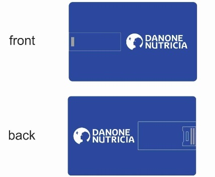 Credit Card 8 GB Pen Drive for Danone Nutricia India
