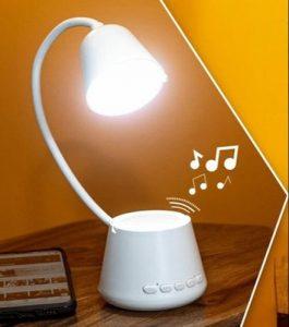 desk cone lamp with speaker