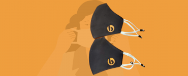 Customized Face Masks with Adjustable Earloops for Bacancy
