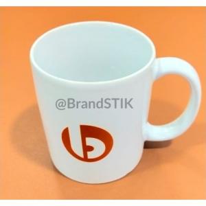 White ceramic mug BrandSTIK