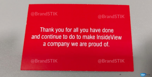 Inside View Welcome Card