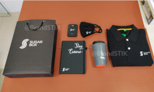 Black themed Welcome kit for Sugarbox
