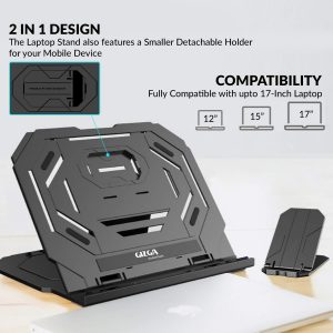 Gizga laptop and phone stand