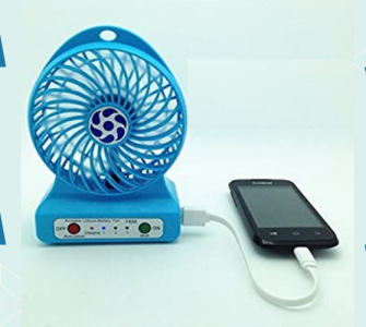 Portable fan with power bank blog banner