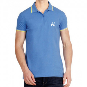 Ucb Sea Blue With Yellow And White Tipping T-shirt