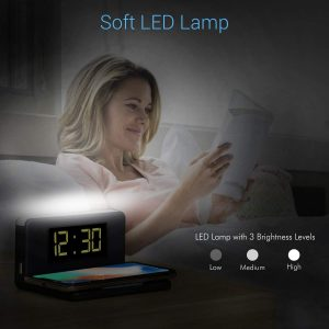 wireless charger with soft LED Lamp