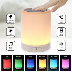 LED touch lamp speaker